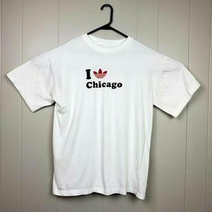 Adidas Trefoil I Love Chicago White T-Shirt
